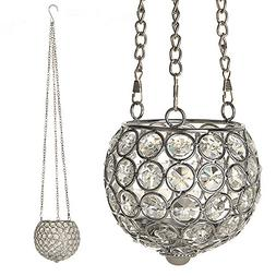VINCIGANT Silver Hanging Crystal Candle Ball Lamps for Fathe