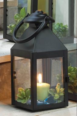 "small 9"" black stagecoach Lantern Candle holder wedding flor"