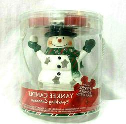 Yankee Candle Snowman Luminary Holder Sparkling Cinnamon Can