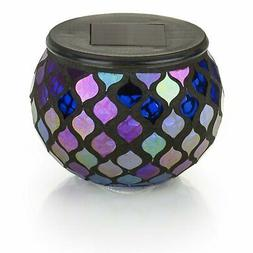 Solar Mosaic Glass LED Decorative Table Light