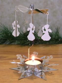 Spinning Angels Candle Holder with Star Base Scandinavian St