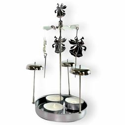 BANBERRY DESIGNS Spinning Angels Tealight Candle Holder with