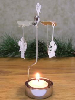 BANBERRY DESIGNS Spinning Candles - Angel Candle Tea Light C