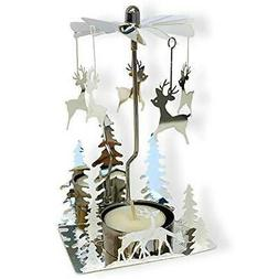 BANBERRY DESIGNS Spinning Metal Candle Holder - Reindeer Cha