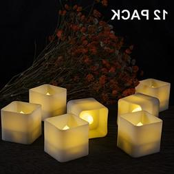 12 Pack Square Led Tealight Candles, Amagic Small Flameless