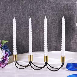 Stainless Steel Moroccan Candlesticks Romantic Gold <font><b