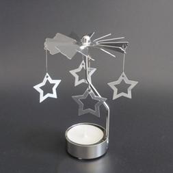 Star Shape Romantic Rotation Candlestick <font><b>Candle</b>