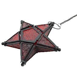 Stunning Star Glass Votive Tea Light Candle Holder Hanging L