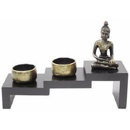 Tabletop Stairway Style Zen Garden Buddha Candle Holder Home