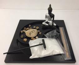 Tabletop Zen Garden Buddha Rock Candle Holder Incense Burner
