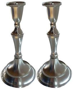 Biedermann & Sons Taper Candle Holder, Set of 2, Pewter Fini