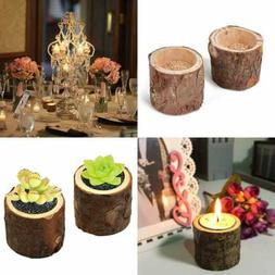 R.FLOWER Tea Light Candle Holders, Personalized Wooden Candl