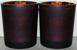 YANKEE CANDLE TEA LIGHT FLICKER HOLDER LOT OF 2 ~HALLOWEEN O