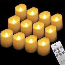 GBATERI 12 Pack LED Tealights with Timer and Remote,Flickeri