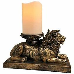 the flameless candles nifty nook lion figurine