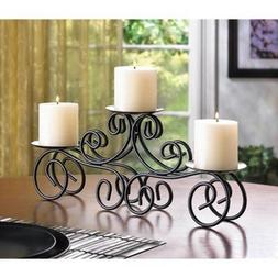 CraftVatika Three Arms Candle Holder With Metal Table Top Ca