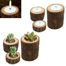 Tree Branch Wooden Candle Holder Wood Tea Light Candlelight
