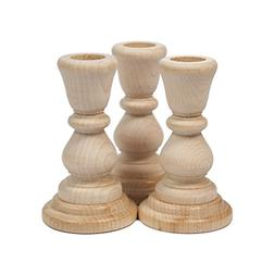Unfinished Candlesticks 4 Inch, Unfinished Wood Candlesticks