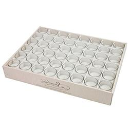 Stonebriar 48 Pack Unscented Long Burning Clear Glass Wax Fi