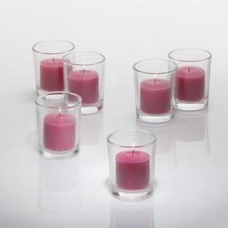 Set of 72 Unscented Richland Votive Candles and 72 Holders