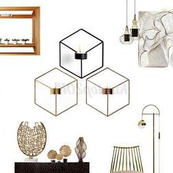 us 3d stereo geometric candlestick iron mounted