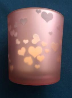 YANKEE CANDLE VALENTINE PINK HEART FLICKERING TEALIGHT/VOTIV