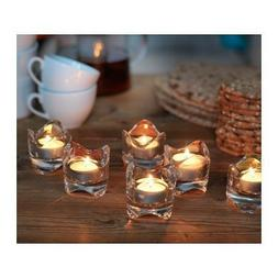 Ikea VASNAS: Lot of 6 Tealight Candle Holders: Clear Glass