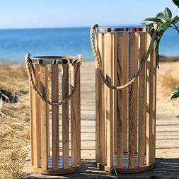 The Versatile Key West Rope Umbrella Stands, Oversized LED C