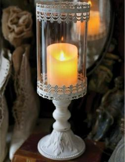 victorian trading co lace pedestal luminary candle