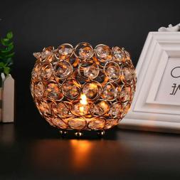 VINCIGANT Bowl Tea light Candle Holders Crystal Glass Effect