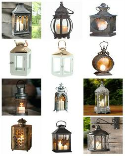 Vintage Candle Holder Hanging Glass Lantern Home Decor Weddi