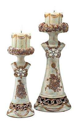 OK Lighting Vintage Candleholder, Rose