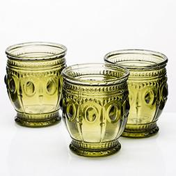 Richland Vintage Charm Candle Holder Dark Green Set of 6