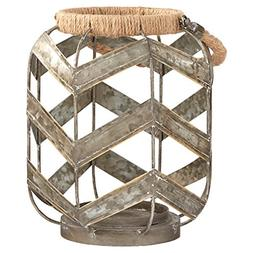 Stone & Beam Vintage Farmhouse Metal and Rope Decorative Can