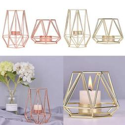 Vintage Glass Tea Light Candle Holder Wedding Table Birdcage
