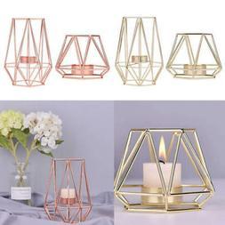 Vintage Glass Tea Light Candle Holder Wedding Table Birdcage