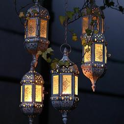 Vintage Moroccan Temple Tower Candle Holder Hanging Lantern