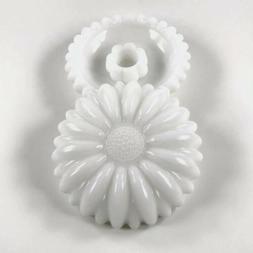 Vintage Sunflower Candleholder Set of 2 Candlestick White Mi