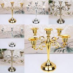 Vintage Wedding Xmas Metal Crafts Candelabra Alloy 3/5 Arm C