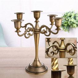 Vintage Wedding Xmas Metal Crafts Candelabra Alloy 3/5 Arms