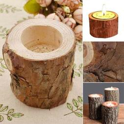 Vintage Wooden Tree Branch Candle Holder Wood Tea Light Cand