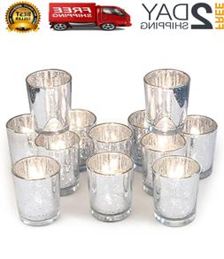 Volens Votive Candle Holders Bulk,Mercury Glass Tealight Can