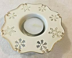 Yankee Candle Votive Candle Holder Snow Light White Snowflak