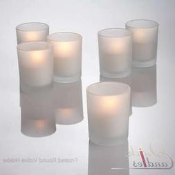 Eastland Votive Candle Holders Frosted Glass Set of 12, Home