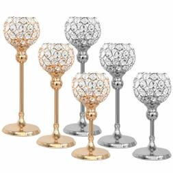 Votive Crystal Candle Holder Pillar Dinner Table Centerpiece