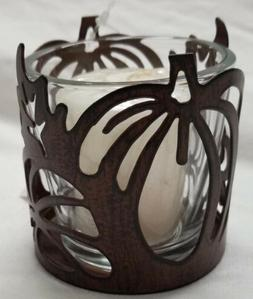 Yankee Candle Votive Holder BRONZE PUMPKIN FALL & 2 SURPRISE
