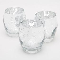 Richland Votive Holder Hurricane Grande Mercury Silver Set o