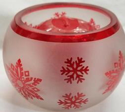 Yankee Candle Votive Holder RED STAR SNOWFLAKE Roly & 2 SURP