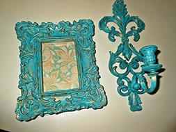 Wall Candle Holder, Hanging Picture Frame, Upcycled, Vintage