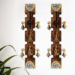 ExclusiveLane Wall Candle Holder Set With Dhokra & Warli Art